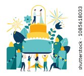 vector illustration of a big...   Shutterstock .eps vector #1085618033