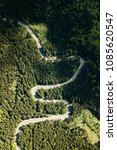 winding road from high mountain ...   Shutterstock . vector #1085620547