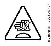 hand with bandage icon  warning ... | Shutterstock .eps vector #1085643497