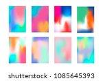 minimal bright vivid gradient...   Shutterstock .eps vector #1085645393