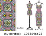 fashion art collection  vector... | Shutterstock .eps vector #1085646623