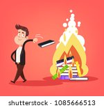 uneducated ignorance writer man ... | Shutterstock .eps vector #1085666513