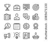 business line icons set. modern ... | Shutterstock .eps vector #1085671133