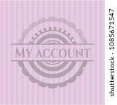 my account pink emblem. rmy... | Shutterstock .eps vector #1085671547