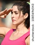 Small photo of Adult Female Saluting