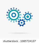 connected cogwheels. creative... | Shutterstock .eps vector #1085724137