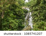 khlong lan waterfall  beautiful ... | Shutterstock . vector #1085741207