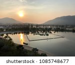 Small photo of Beautiful sunrise view at a bay oversight mountains.