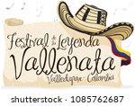 """banner with """"sombrero vueltiao"""" ...   Shutterstock .eps vector #1085762687"""
