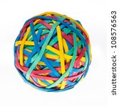 colorful rubberband ball | Shutterstock . vector #108576563