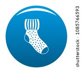 woolen sock icon. simple... | Shutterstock .eps vector #1085766593