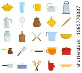 kitchenware tools cook icons... | Shutterstock .eps vector #1085770337