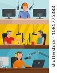 radio station music news... | Shutterstock .eps vector #1085775383