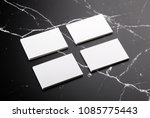 photo of white business cards... | Shutterstock . vector #1085775443