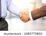 the close up image of a firm... | Shutterstock . vector #1085775803