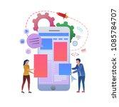 mobile web designing  user... | Shutterstock .eps vector #1085784707