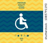 wheelchair handicap icon | Shutterstock .eps vector #1085791193