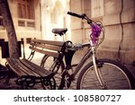 Beautiful Urban Bicycle Secured A - Fine Art prints