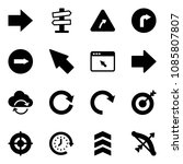 solid vector icon set   right... | Shutterstock .eps vector #1085807807