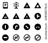 solid vector icon set   parking ... | Shutterstock .eps vector #1085807813