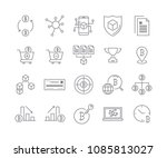 line icon set cryptocurrency... | Shutterstock .eps vector #1085813027