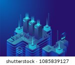 data center or cryptocurrency... | Shutterstock .eps vector #1085839127