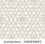 seamless linear pattern with ... | Shutterstock .eps vector #1085858093