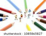 miniature people   children and ... | Shutterstock . vector #1085865827