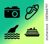 vector icon set about travel... | Shutterstock .eps vector #1085868797