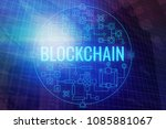abstract blockchain background. ... | Shutterstock . vector #1085881067