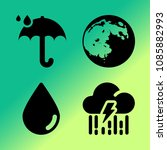 vector icon set about weather... | Shutterstock .eps vector #1085882993
