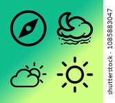 vector icon set about weather... | Shutterstock .eps vector #1085883047