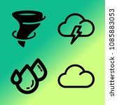 vector icon set about weather... | Shutterstock .eps vector #1085883053