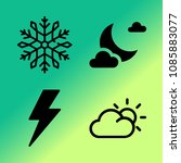 vector icon set about weather... | Shutterstock .eps vector #1085883077