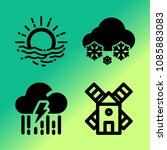vector icon set about weather... | Shutterstock .eps vector #1085883083