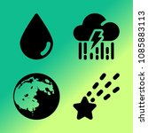 vector icon set about weather... | Shutterstock .eps vector #1085883113
