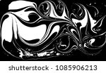 black and white liquid texture. ... | Shutterstock .eps vector #1085906213