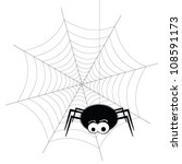 spider and web vector | Shutterstock .eps vector #108591173