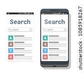 smartphone with search...