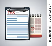 clipboard with tax form and... | Shutterstock .eps vector #1085918687