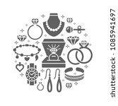 jewelry shop  diamond... | Shutterstock .eps vector #1085941697