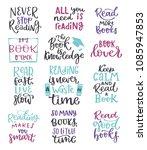book  read handwritten... | Shutterstock .eps vector #1085947853
