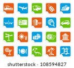 travel icons on stickers   Shutterstock .eps vector #108594827