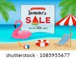 summer sale promotion banner...   Shutterstock .eps vector #1085955677