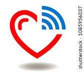heart with wi fi icon vector.... | Shutterstock .eps vector #1085956037