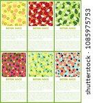 detox juice poster set... | Shutterstock .eps vector #1085975753