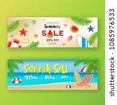 summer sale promotion banner...   Shutterstock .eps vector #1085976533