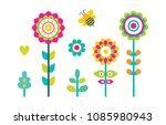 abstract spring flowers... | Shutterstock .eps vector #1085980943