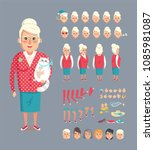 granny constructor collection... | Shutterstock .eps vector #1085981087