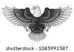 eagle isolated on white vector... | Shutterstock .eps vector #1085991587